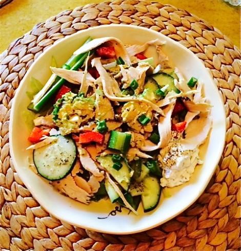 Greek Salad With Turkey & Tzatziki